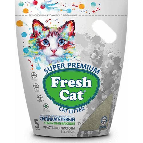 Наполнитель силикагелевый Fresh Cat® Кристаллы чистоты. (объем 5 л.)