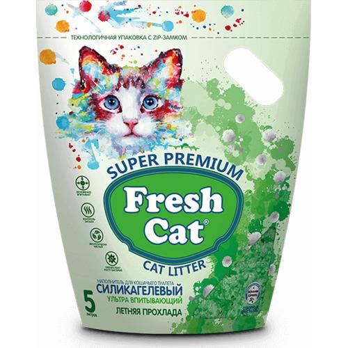 Наполнитель силикагелевый Fresh Cat® Летняя прохлада (объем 5 л.)