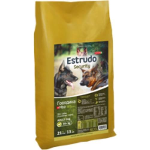 Estrudo Security (Говядина +Hba) д/взр.собак служебных пород 20 кг