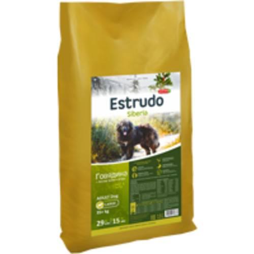 Estrudo Siberia (Говядина + лесные травы) для взрослых собак крупных пород 13 кг