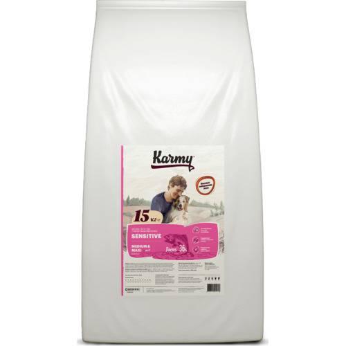 Сухой корм для собак Karmy Sensitive Medium & Maxi 15 кг.