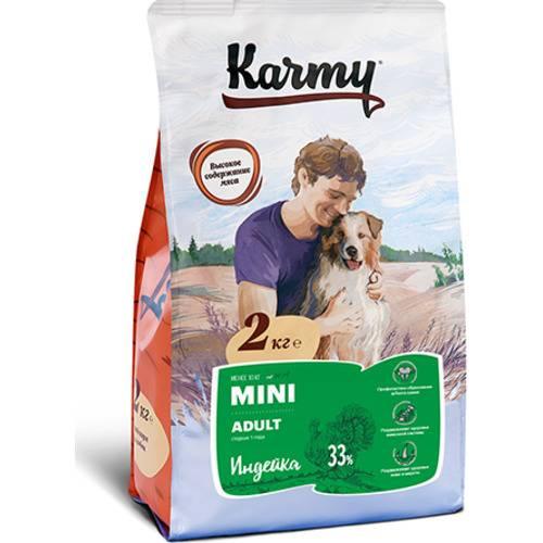 Karmy Mini Adult индейка   Полнорационный сухой корм для собак мелких пород в возрасте старше 1 года 2 кг.