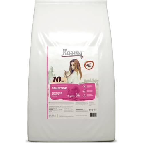 Karmy Sensitive полнорационный сухой корм для взрослых кошек 1,5 кг.