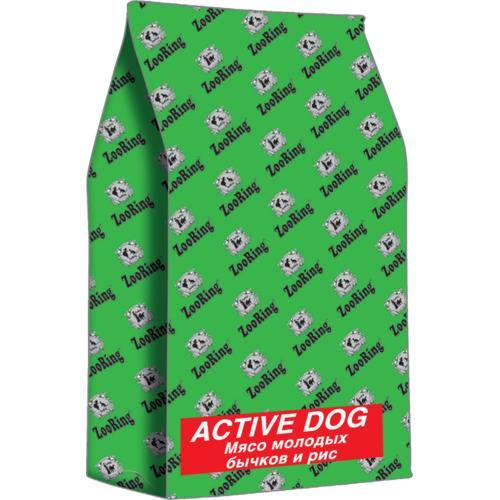 ZooRing Active Dog  МЯСО МОЛОДЫХ БЫЧКОВ И РИС С ХОНДРОЗАЩИТНЫМИ АГЕНТАМИ 2кг, 10кг, 20кг