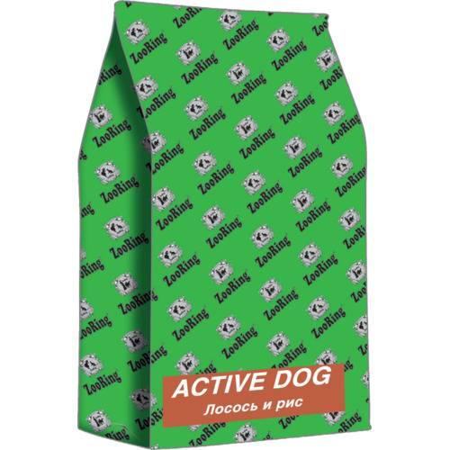 Сухой корм для собак Active Dog  ЛОСОСЬ И РИС 2 кг., 10 кг., 20 кг.