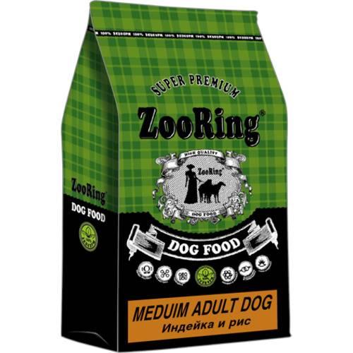 Сухой корм для собак средних пород ZooRing  Medium Adult Dog ИНДЕЙКА И РИС 10 кг, 20 кг