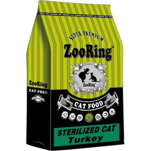 Сухой корм ZooRing STERILIZED CAT Turkey индейка для стерилизованных кошек и кастрированных котов