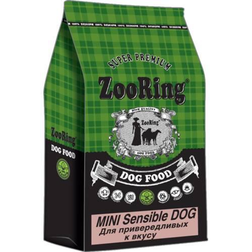 ZooRing Mini Sensible Dog индейка и рис для привередливых к еде мелких собак 700гр., 10 кг