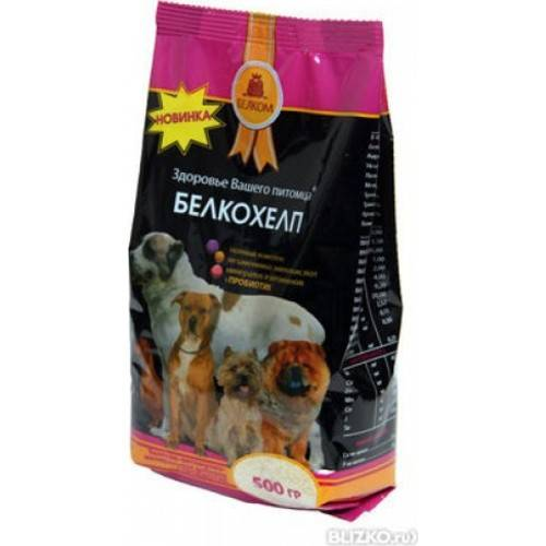 Кормовая добавка для собак Белкохелп 500гр.
