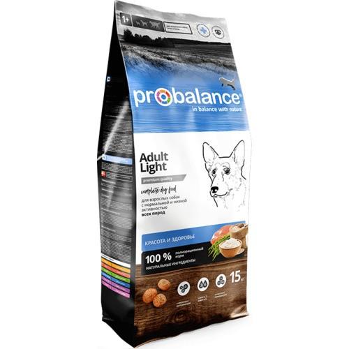 """Сухой корм для профилактики избыточного веса собак Probalance """"Adult Light""""15 кг."""