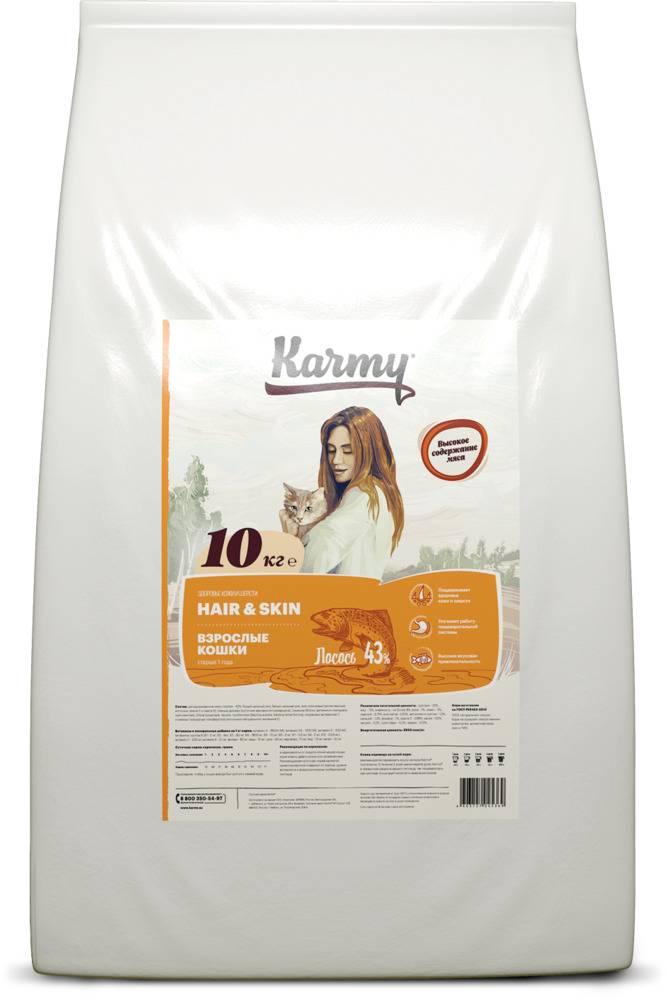 Karmy Hair & Skin Полнорационный сухой корм для взрослых кошек 10 кг