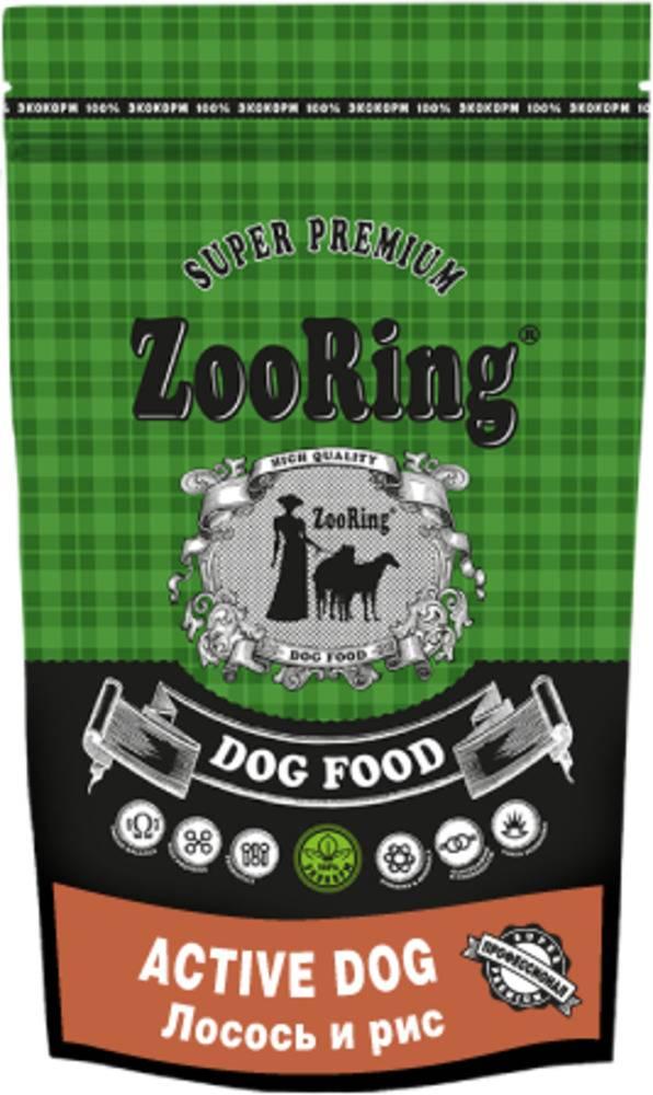 Сухой корм для собак ZooRing Active Dog  ЛОСОСЬ И РИС 2 кг.