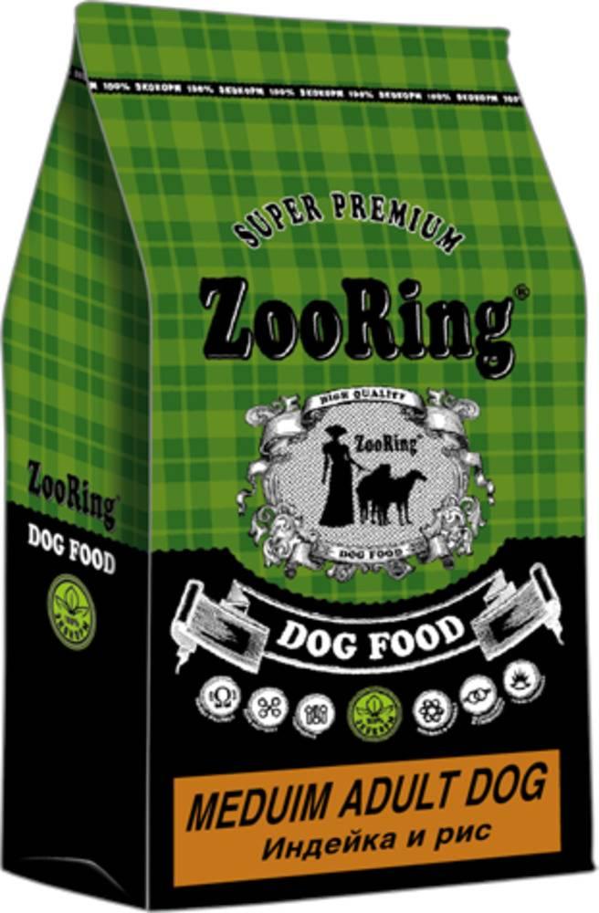 Сухой корм для собак средних пород ZooRing  Medium Adult Dog ИНДЕЙКА И РИС 10 кг