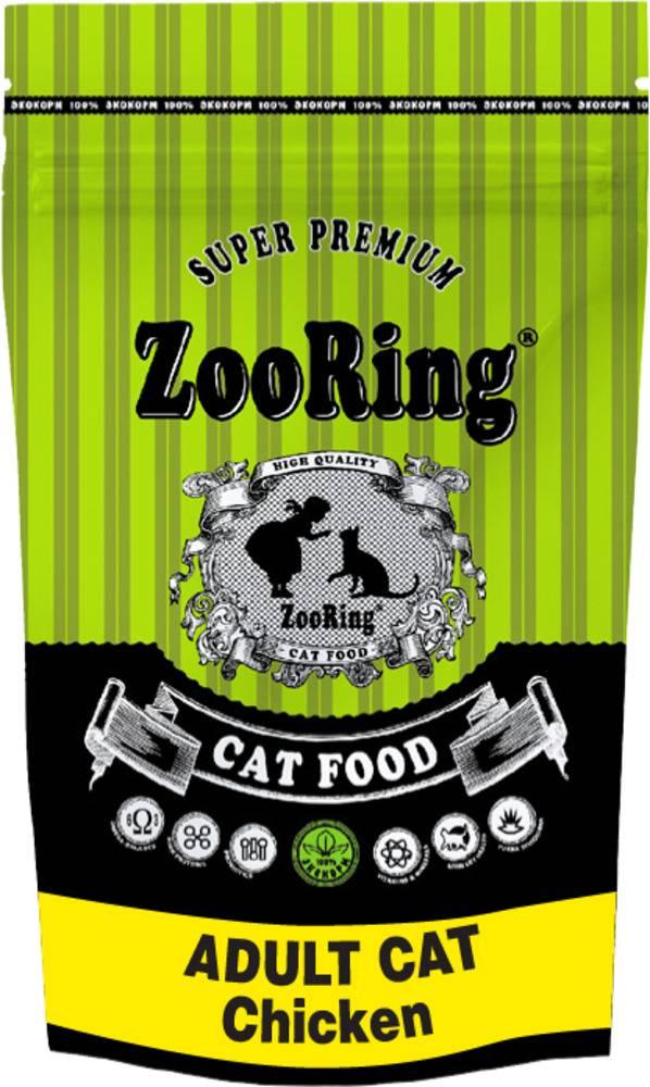 Сухой корм ZooRing ADULT CAT Chicken цыплёнок 1,5кг.